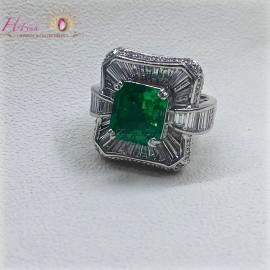 4.97ct Emerald Ring Columbia Insignificant GRS