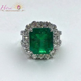 8.45ct Emerald Ring Columbia GRS Minor to Moderate